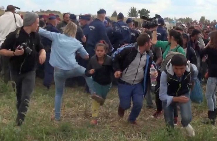 Petra Laszlo Indicted After Incident With Migrants, Filmed Kicking Them